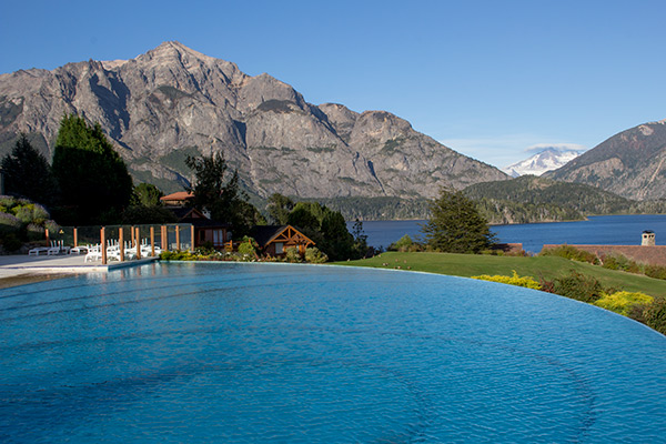 The Llao Llao's picturesque infinity pool