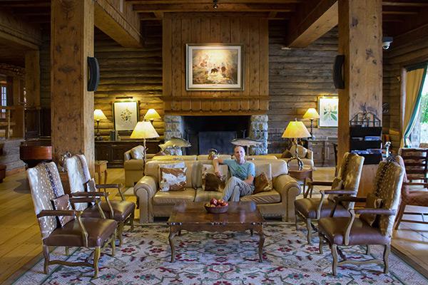 Lobby bar at the Llao Llao