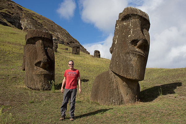 Tony at Rano Raraku