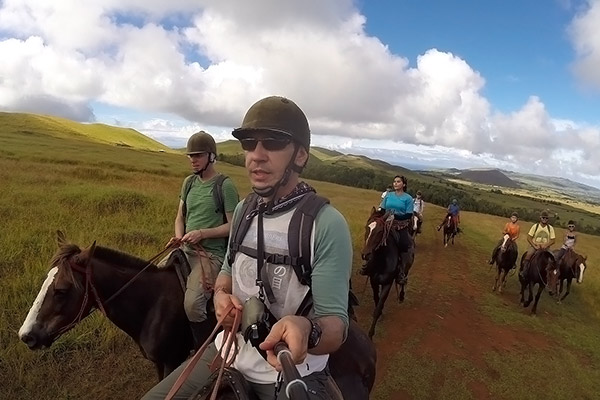 Riding up Maunga Terevaka