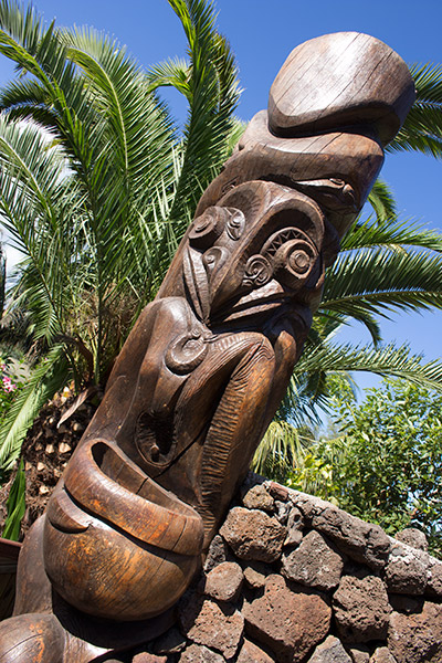 Moai at Chez Maria Goretti