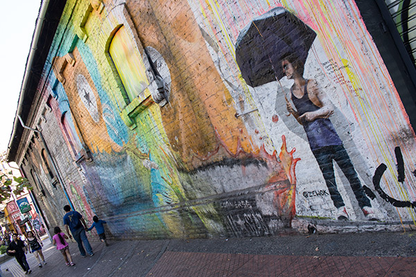 Street art in Barrio Bellavista, Santiago