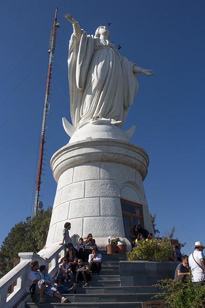 Virgen de la Inmaculada Concepcion, Cerro San Cristobal, Santiago