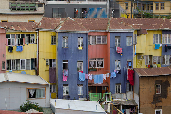 Colorful houses of Valparaíso