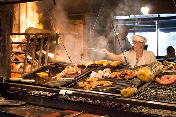 Parilla at Mercado del Puerto in Montevideo
