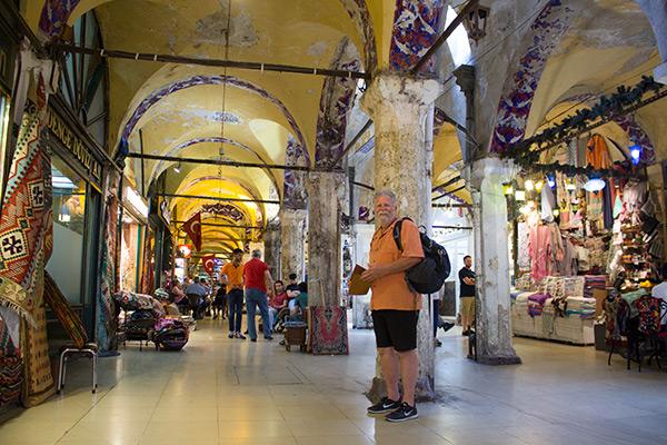 Dad exploring the Grand Bazaar
