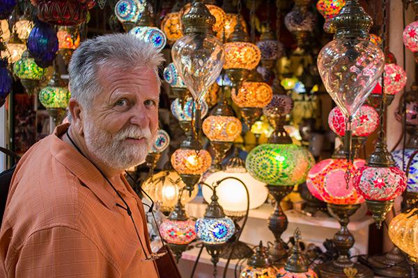 Dad in the Grand Bazaar