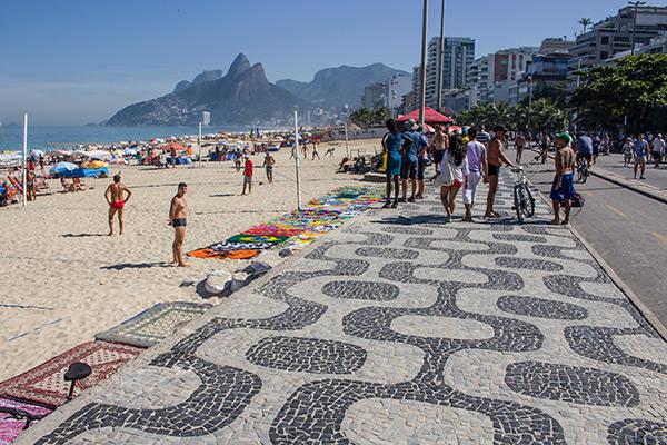Portuguese-inspired boardwalks in Rio de Janeiro, Brazil
