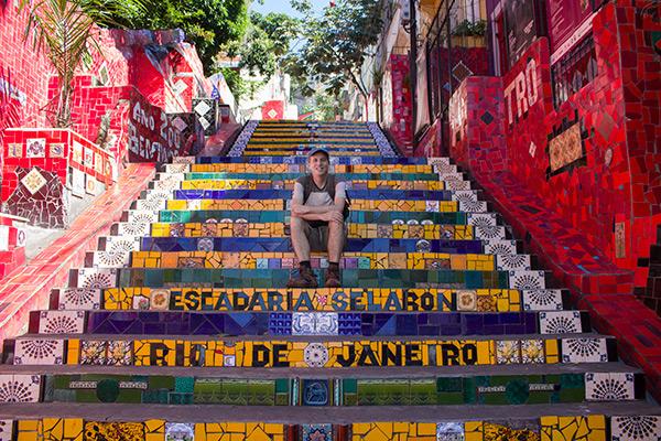 Selarón stairs in Rio de Janeiro, Brazil
