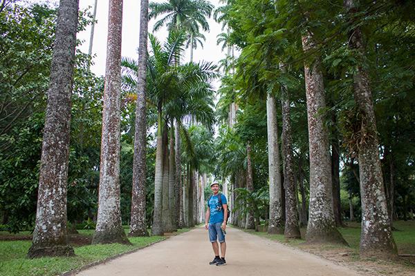At the Botanical Garden, Rio de Janeiro, Brazil