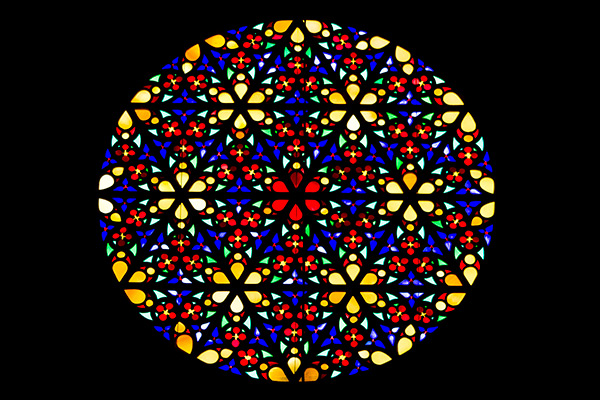 Rose window in Palma cathedral, Mallorca