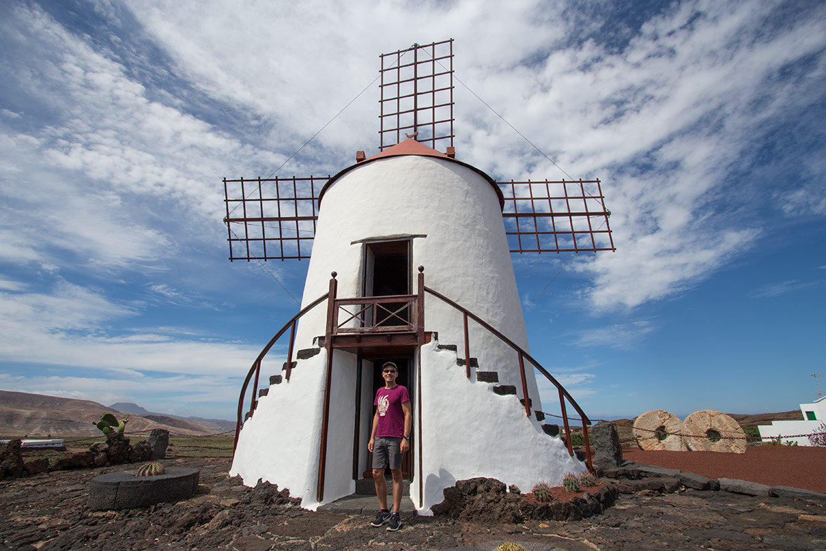 Traditional Lanzarote windmill