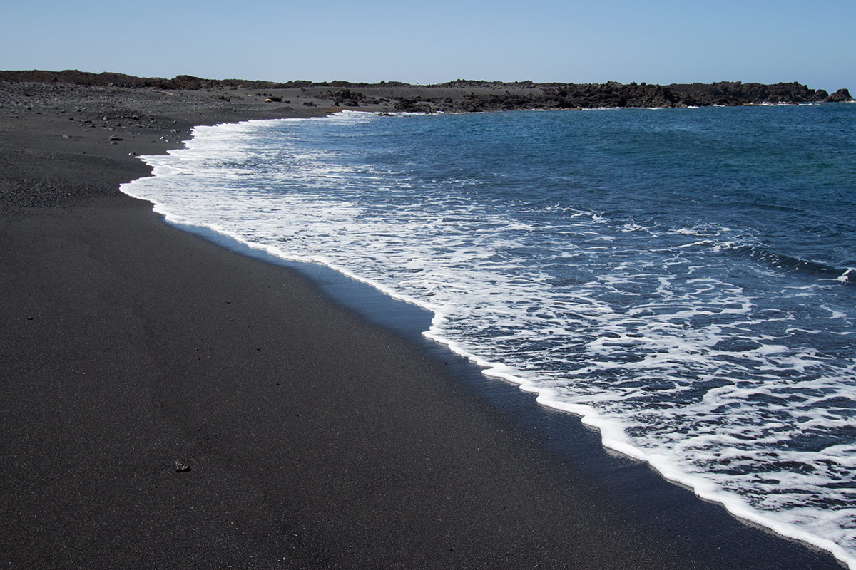 Black-sand beaches of El Golfo