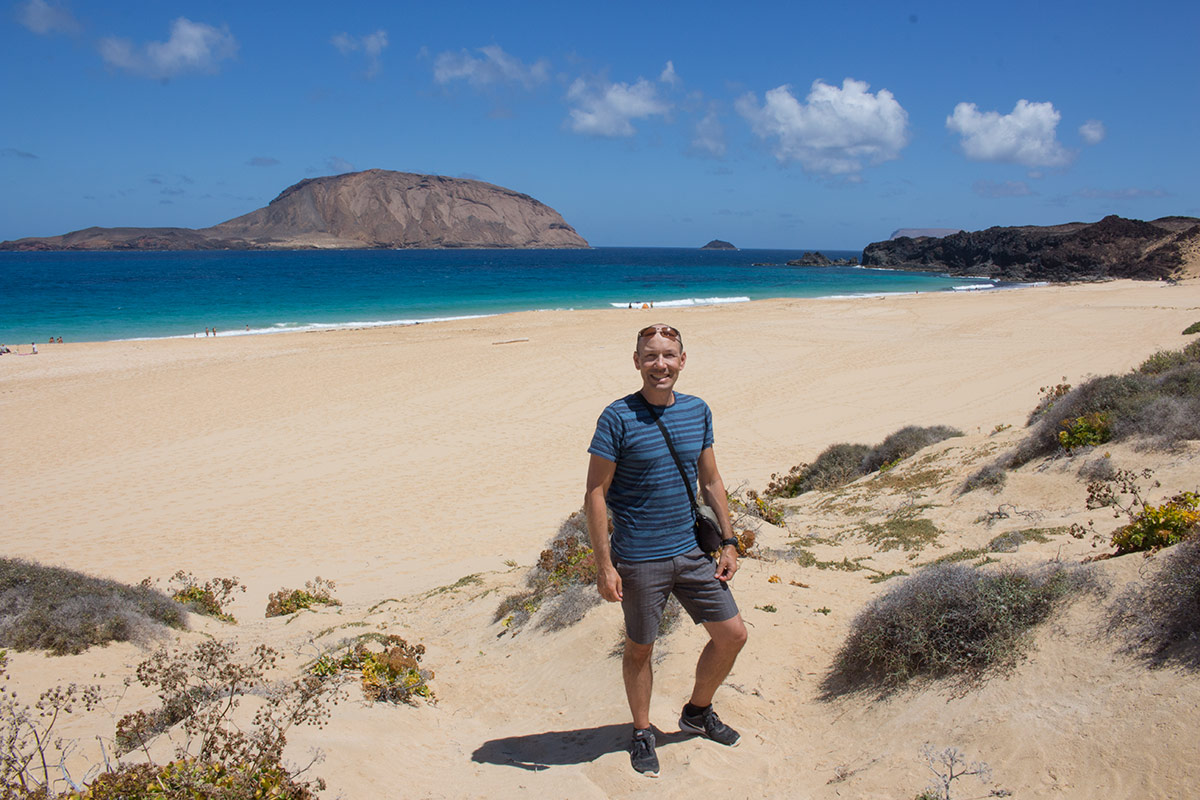 Playa de las Conchas on La Graciosa