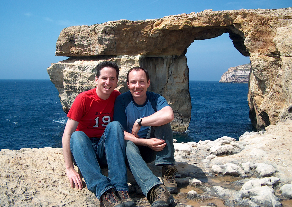 Tony and Thomas near the Gozo Azure Window (collapsed in March 2017).