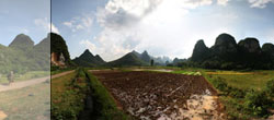 Landscape near Yangshuo, China