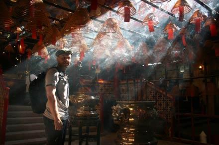 Thomas at Man Mo Temple