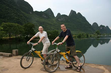 Biking the Yulong River