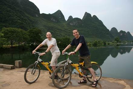 Biking the Yulong River