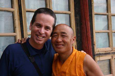 Tony with Monk (Chakka) at Dargye Gompa