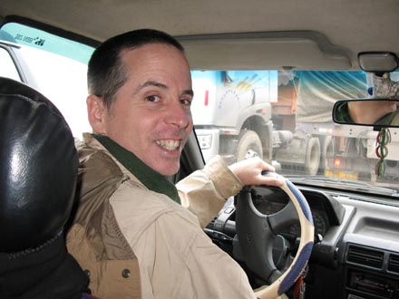 Tony driving between Kanding and Tagong