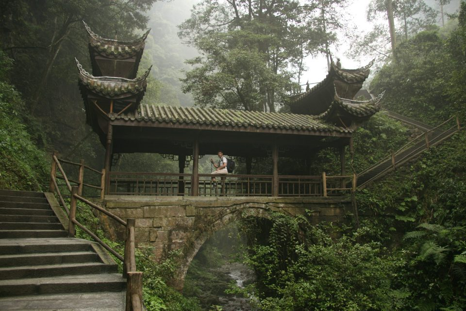 Beautiful bridge on Emei Shan
