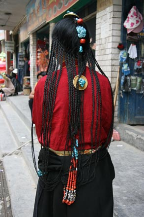 Hair Adornments of Khampa Woman