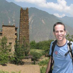 Tony exploring the village of Zhonglu near Danba
