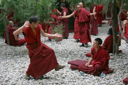 Monks Debating, Deprung Monastery, Tibet