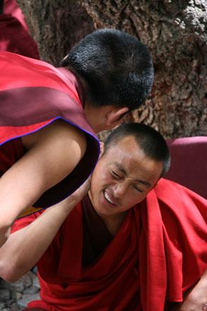 Debate, Deprung Monastery, Tibet
