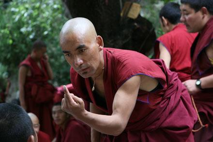 Monk Debate, Deprung Monastery, Tibet