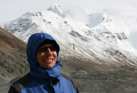 Thomas at Mt. Everest Base Camp