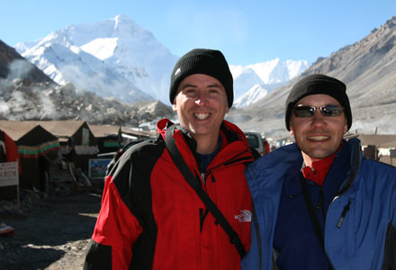 Tony and Thomas at Tented Camp, Mt. Everest