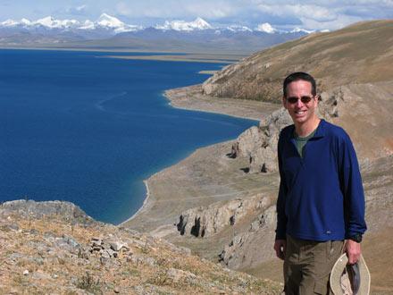 Tony at Nam Tso Lake, Tibet