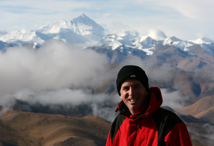 Tony with Mt. Everest in Background