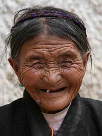Tibetan Lady in Gyantse