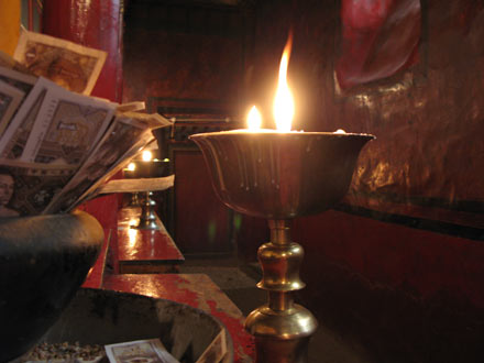 Yak Butter Lamp in Monastery