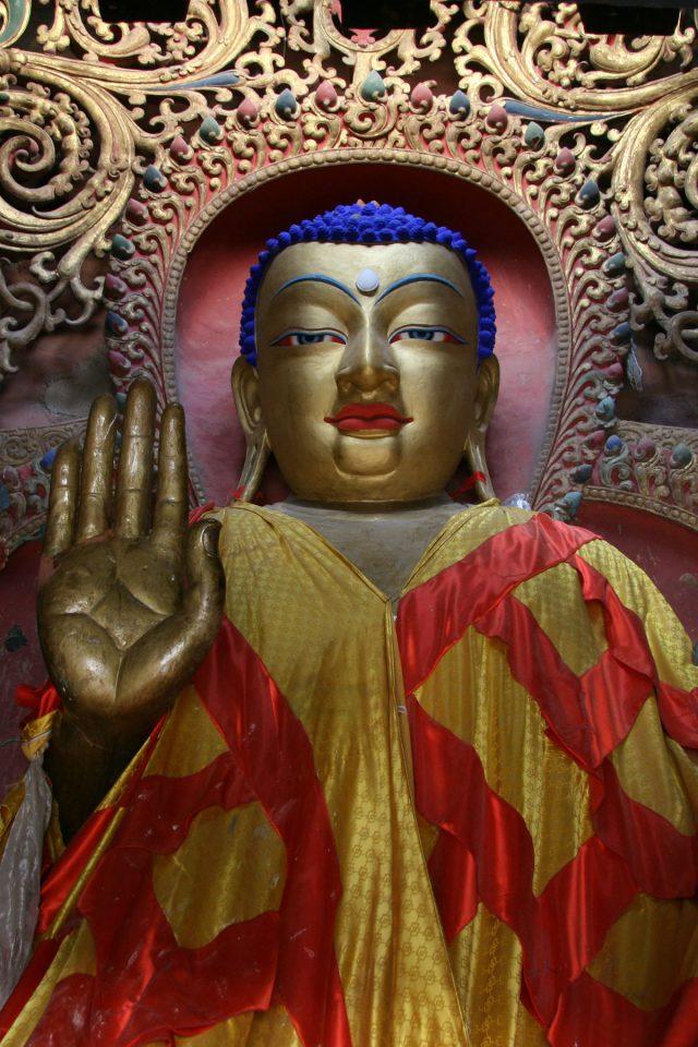 Beautiful Buddha in the Gyantse Kumbum