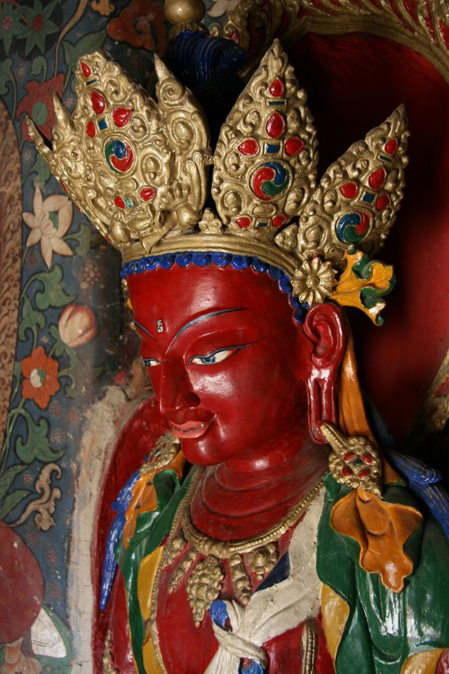 Crowned Buddha in the Guantse Kumbum