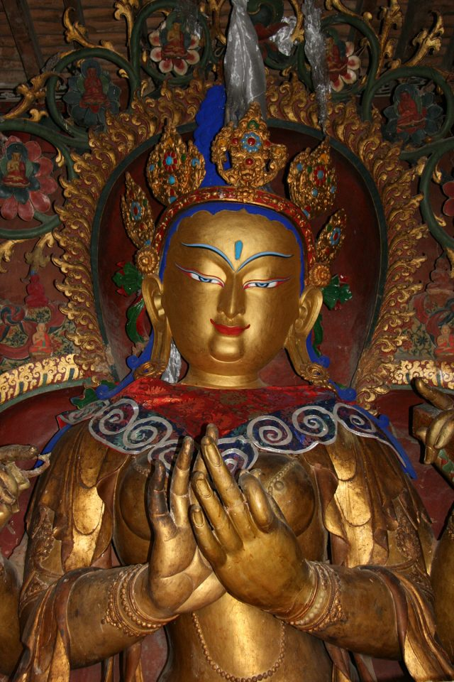 Stunning golden Buddha in the Gyantse Kumbum