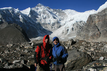 Tony and Thomas at Cho Oyu South Base Camp, Nepal