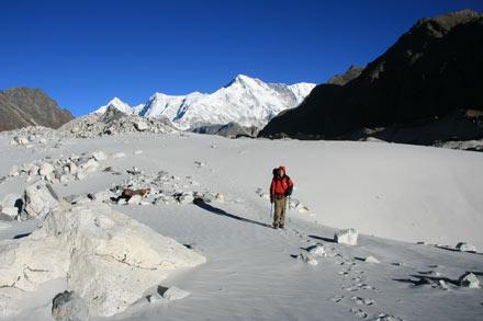 Sand Flat on Ngozumpa Glacier