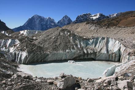 Lake on Khumbu Glacier
