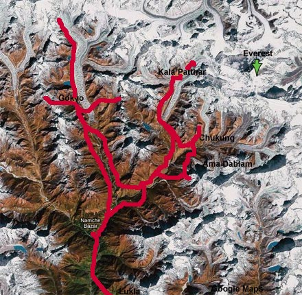 Map of Everest Region