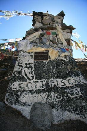 Memorial Cairn to Scott Fischer