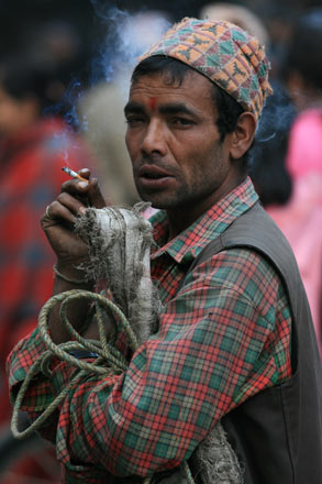Nepali Man in the Market