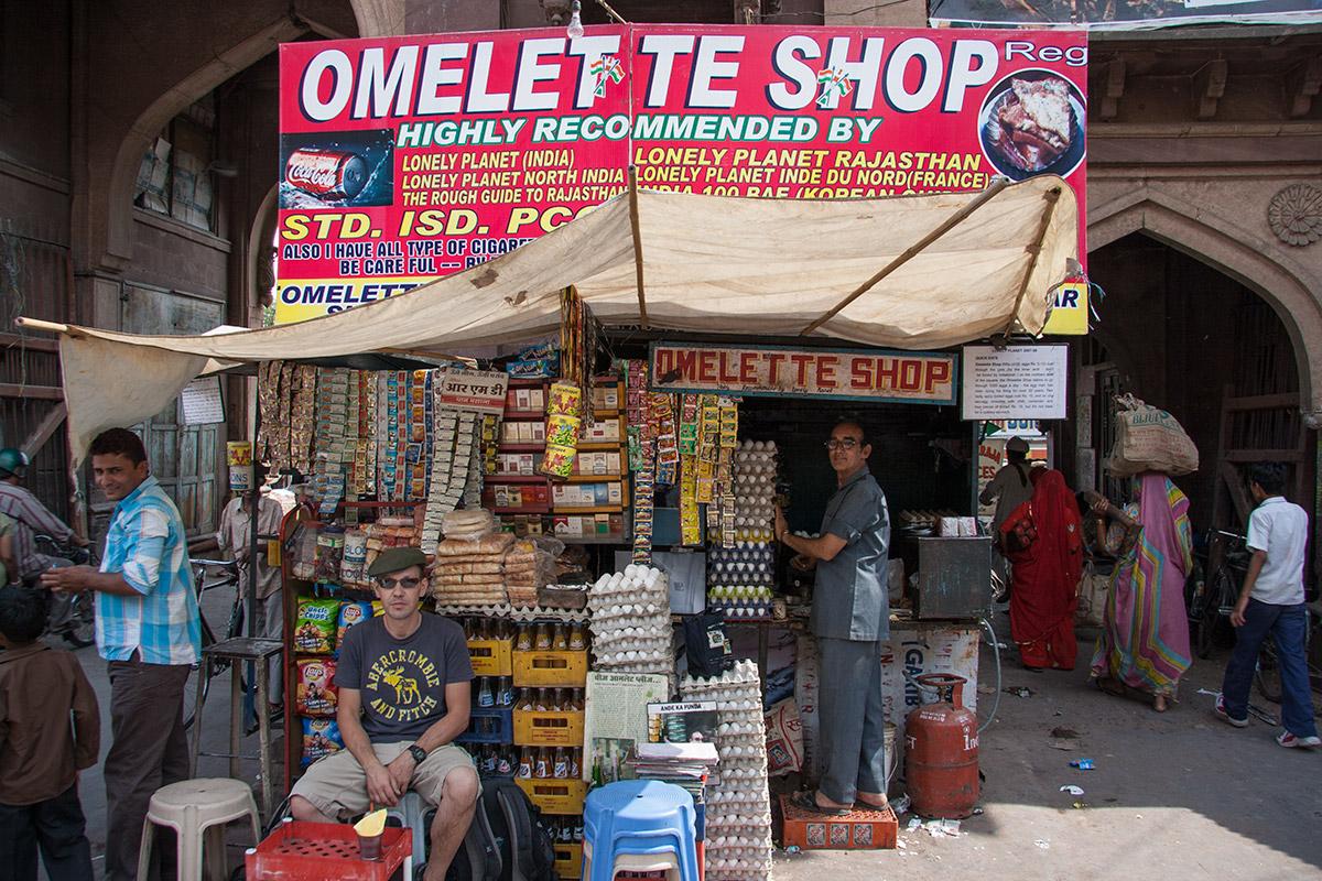Omelette Shop in Jodhpur