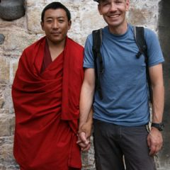Thomas with Tibetan Monk