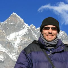 Thomas Climbing Chhukhung Ri in Nepal