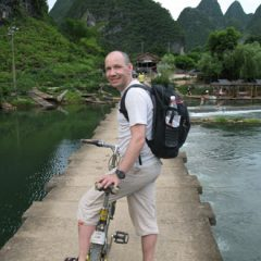 Thomas Biking Outside of Yangshuo in China